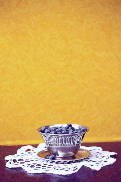 Photograph - Bowl Of Blueberries by Sue Collura
