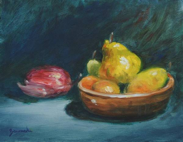 Painting - Bowl Of Fruit By Alan Zawacki by Alan Zawacki