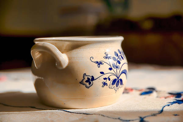 Photograph - Bowl With Blue Decoration by Leif Sohlman