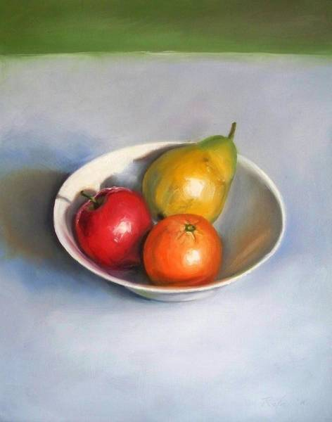 Bowl With Fruit Art Print