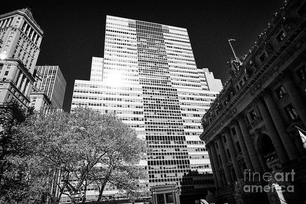 Wall Art - Photograph - bowling green and 2 broadway with the alexander hamilton custom house New York City USA by Joe Fox