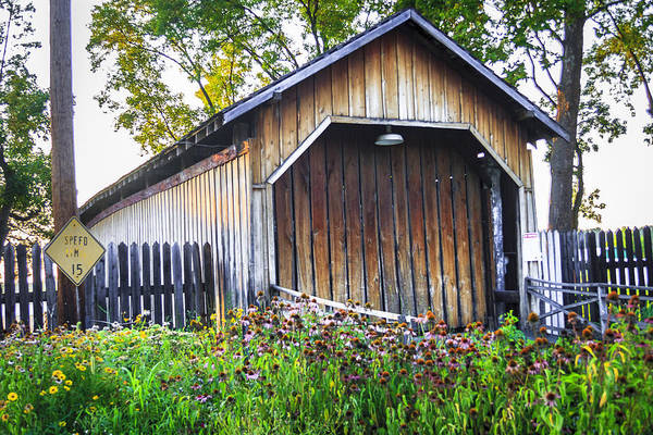 Photograph - Bowman Mill/redington Covered Bridge by Jack R Perry