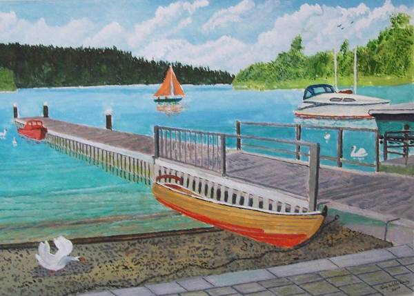 Windermere Painting - Bowness On Windermere by Tony Williams