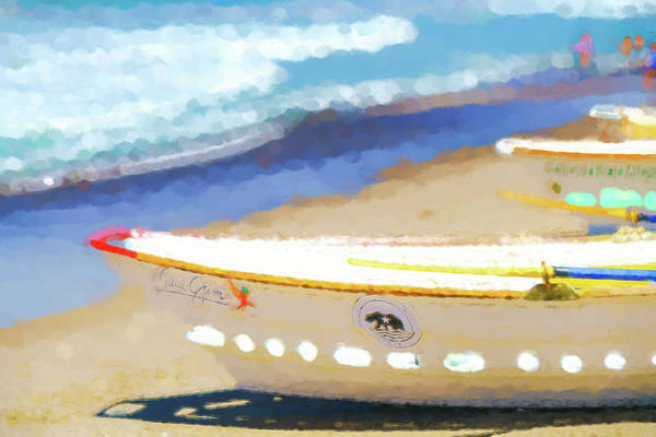 Digital Art - Bows Out   Lifeboat Watercolor by Scott Campbell