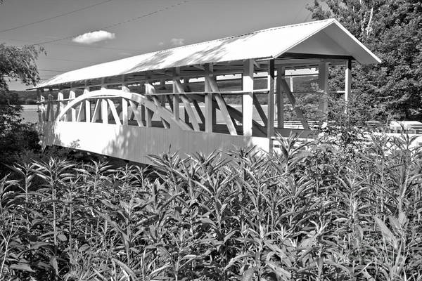 Osterburg Photograph - Bowser Covered Bridge Black And White by Adam Jewell
