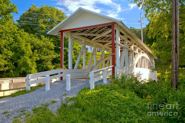 Osterburg Photograph - Bowser's Covered Bridge by Adam Jewell