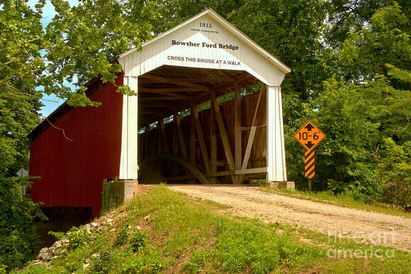 Photograph - Bowsher Ford Covered Bridge by Adam Jewell