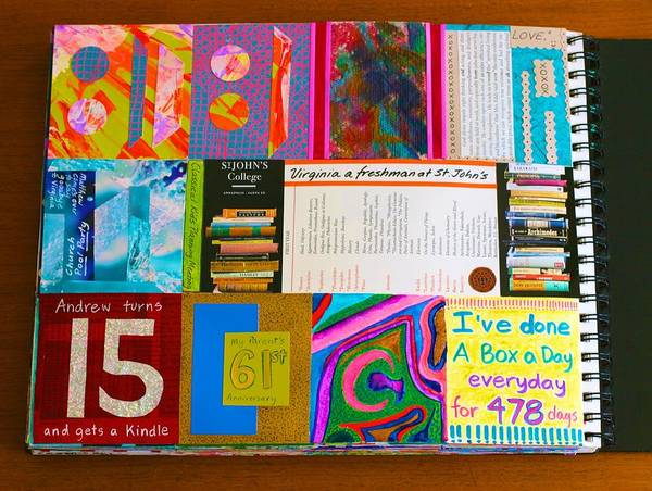 Mixed Media - Box-aday Every Day For 478 Days by Polly Castor