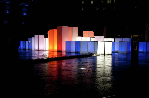 Light Box Photograph - Box Lights by Andrew Dickman