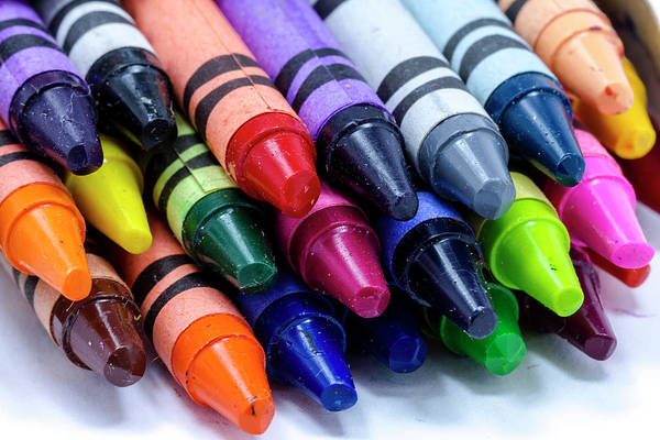 Photograph - Box Of Colorful Crayons by Teri Virbickis