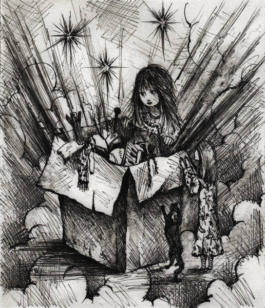 Sorcery Drawing - Box Of Dreams by Rachel Christine Nowicki
