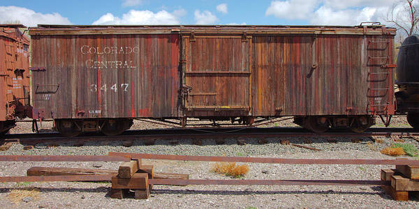 Photograph - Boxcar On The Colorado Central by Gordon Elwell