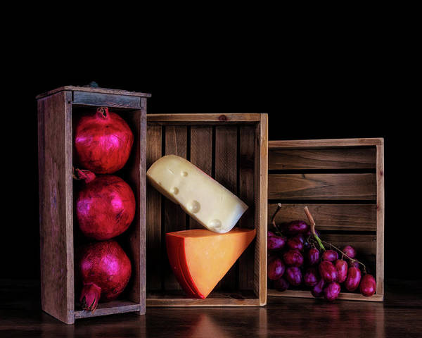 Wall Art - Photograph - Boxed Cheeses And Fruits by Tom Mc Nemar
