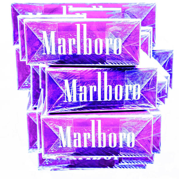 Wall Art - Photograph - Boxed Cigarettes Stacked In Ultraviolet by YoPedro