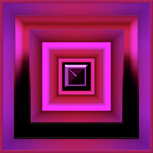 Showpiece Digital Art - Boxed Magenta by Andy Young