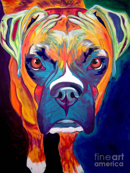 Wall Art - Painting - Boxer - Harley by Alicia VanNoy Call