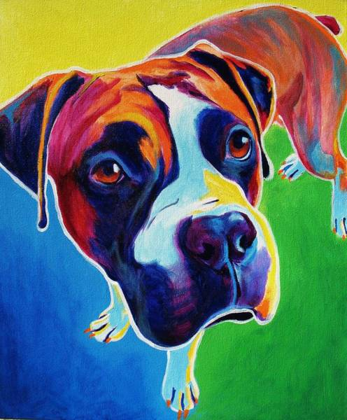 Wall Art - Painting - Boxer - Leo by Alicia VanNoy Call