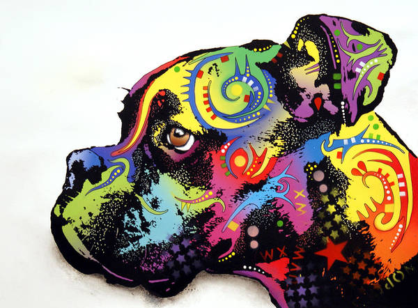 Wall Art - Painting - Boxer by Dean Russo Art