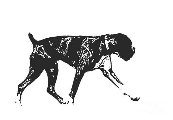 Wall Art - Digital Art - Boxer Dog Tee by Edward Fielding