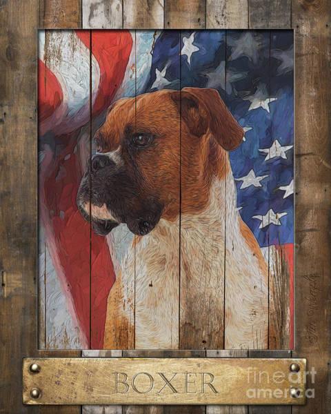 Digital Art - Boxer Flag Poster by Tim Wemple