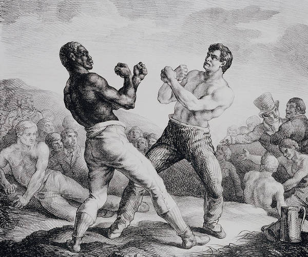 Boxing Drawing - Boxers by Theodore Gericault