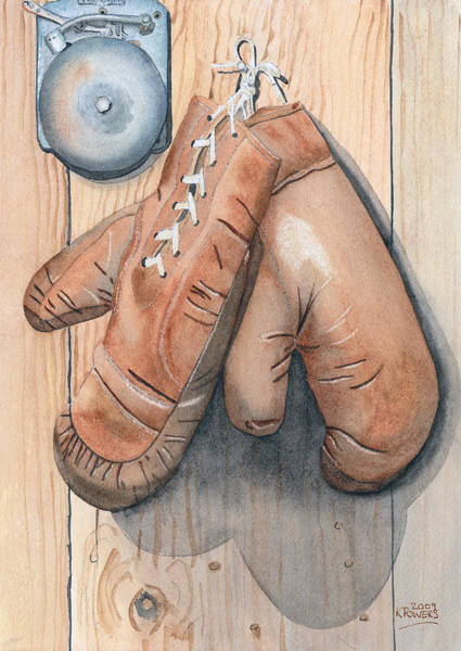 Painting - Boxing Gloves by Ken Powers