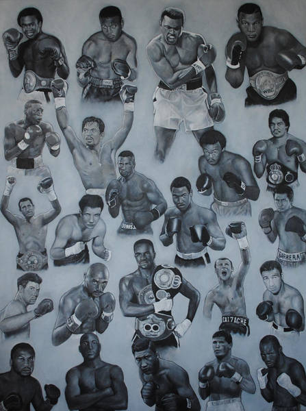 Boxing Painting - Boxing's Greatest by David Dunne