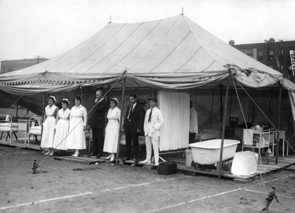 1921 Photograph - Boxing Match Field Hospital by Underwood Archives