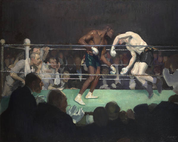 Spectators Painting - Boxing Match by George Luks