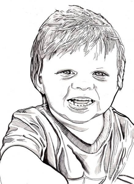 Drawing - Boy by Bill Richards