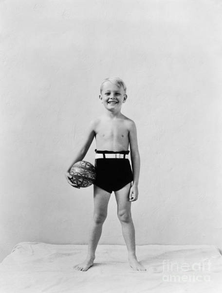 Photograph - Boy Dressed For The Beach, C.1930s by H Armstrong Roberts and ClassicStock