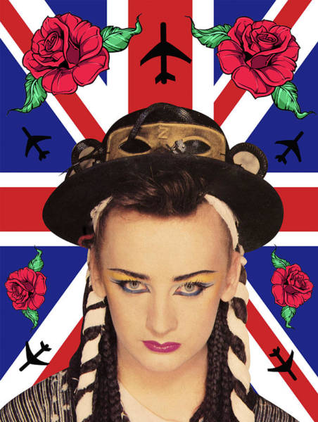 Being Digital Art - boy George 7 by Mark Ashkenazi