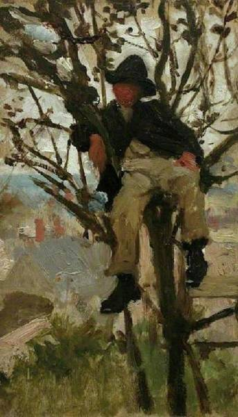 Painting - Boy In A Tree by Henry Scott Tuke