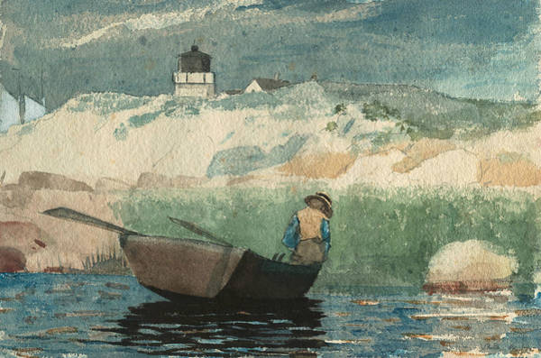 Painting - Boy In Boat Gloucester by Winslow Homer