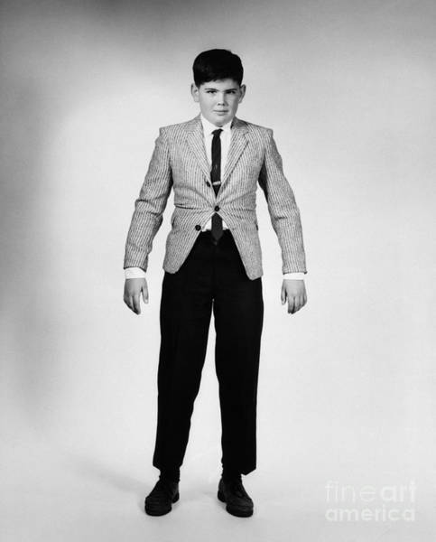 Tight Pants Photograph - Boy In Clothes Hes Outgrown, 1950s-60s by H. Armstrong Roberts/ClassicStock