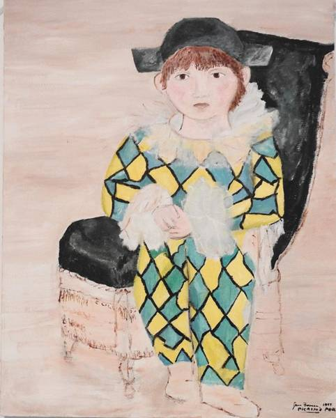 Painting - Boy In Costume Picasso Inspired by Jean Forman