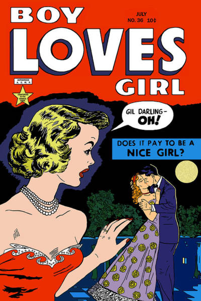 Digital Art - Boy Loves Girl 6 Comic Book by Joy McKenzie