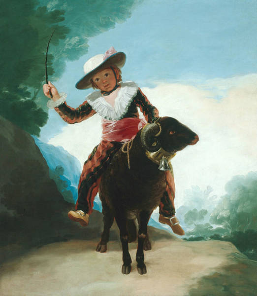 Painting - Boy On A Ram by Francisco Goya