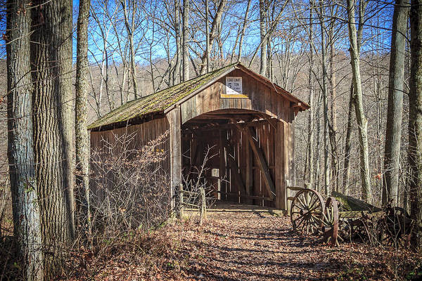 Photograph - Boy Scout Camp Covered Bridge  by Jack R Perry