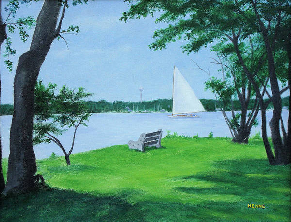 Painting - Boy Scout Island by Robert Henne