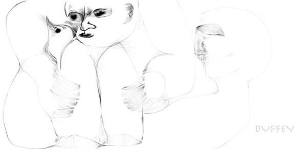 Digital Art - Boy With Bird And Ghost by Doug Duffey