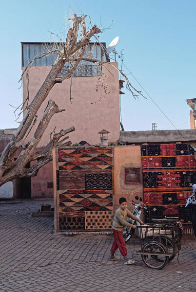 Photograph - Boy With Cart, Marrakesh 2008 by Chris Honeyman