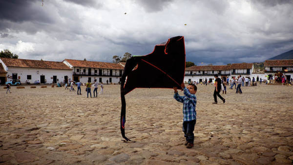 Boyaca Photograph - Boy With Kite by Michael Evans