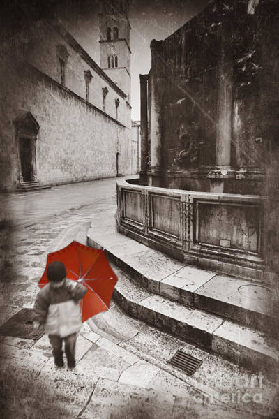 Street Rod Photograph - Boy With Umbrella by Rod McLean