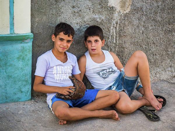 Photograph - Boys And Baseball by Robin Zygelman