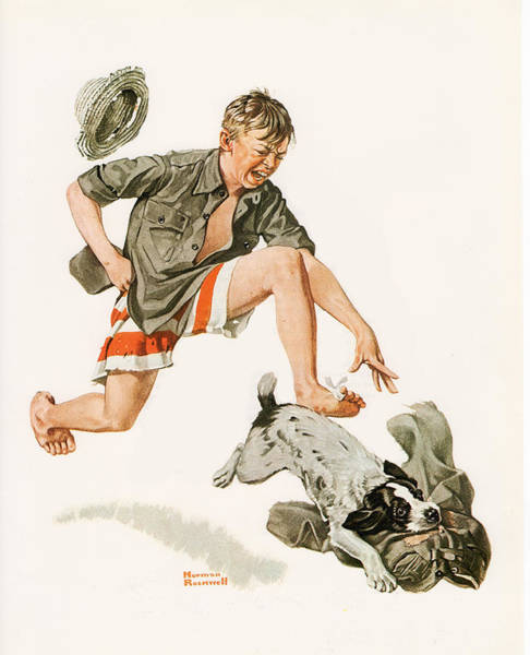 Painting - Boy's Best Friend by Norman Rockwell