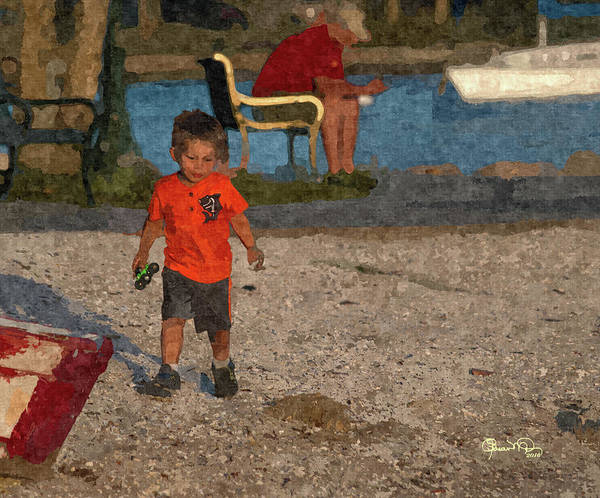 Photograph - Boys Boats And The Bay 3 by Susan Molnar