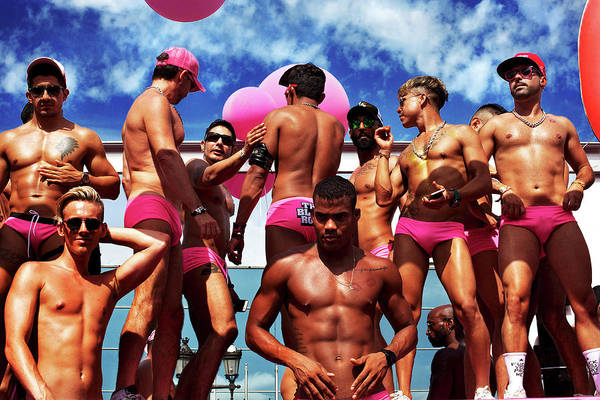 Moberly Photograph - Boys In Pink by Guy Moberly