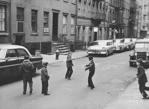 Wall Art - Photograph - Boys Playing In Nyc 1957 by The Harrington Collection