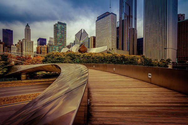 Michigan Ave Photograph - Bp Bridge Chicago Skyline by Mike Burgquist